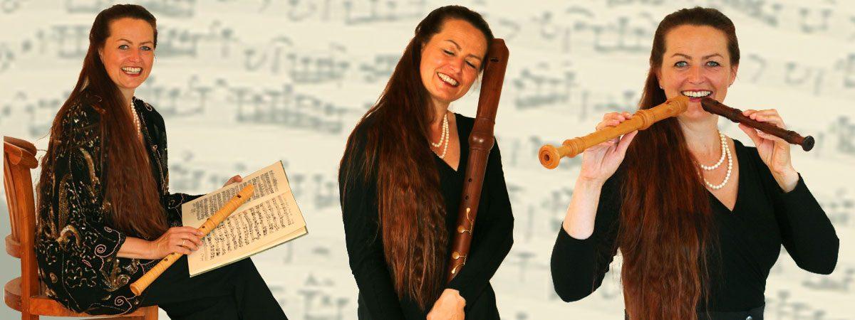 Hannah Beate König, Bassblockflöte, Tenorblockflöte, Renaissanceblockflöte, Konzerte Blockfötenunterricht